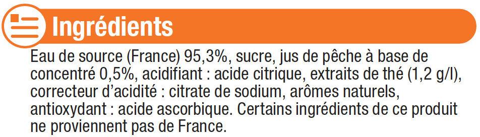 Boisson aux thé aromatisée pêche - Ingredients - fr
