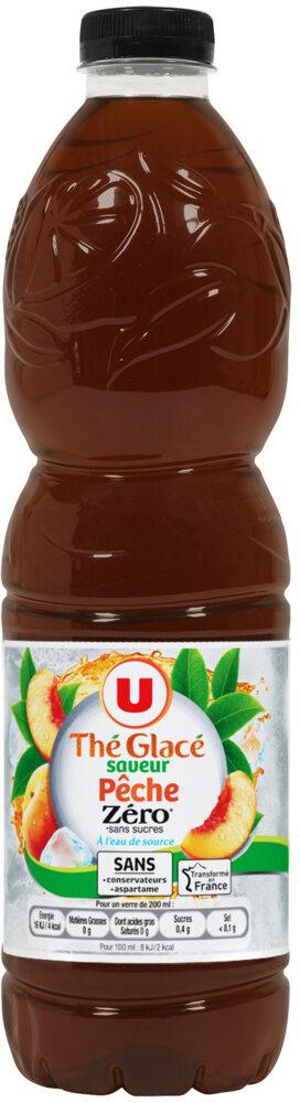 Boisson au thé glacé saveur pêche zéro - Produit - fr