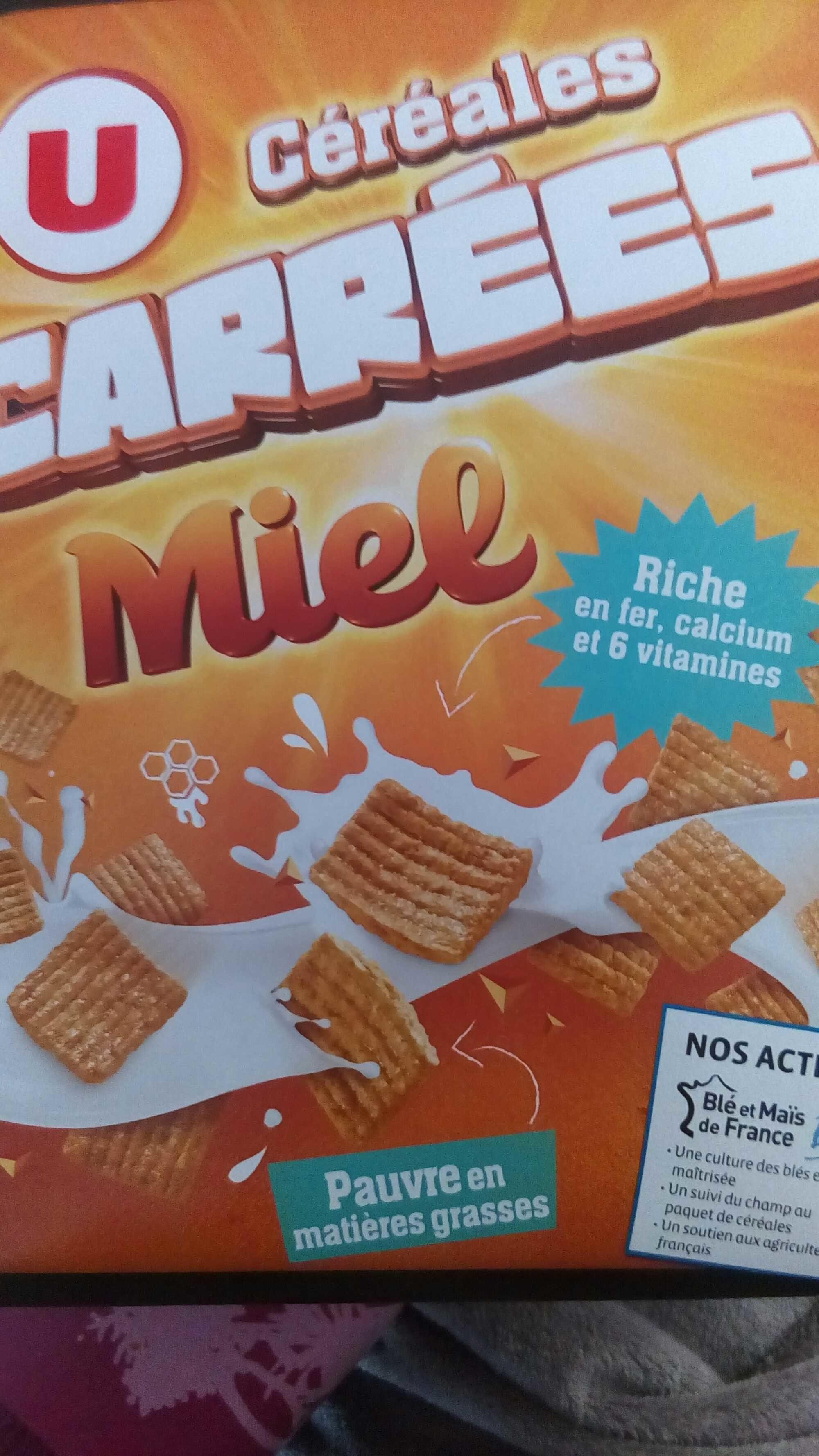 Céréales Carrées Miel - Produit - fr