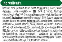Céréales fourrées au chocolat et noisettes - Ingrédients - fr