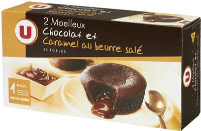 Moëlleux aux chocolat et caramel beurre salé - Product