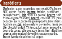 Moëlleux aux chocolat et caramel beurre salé - Ingredients