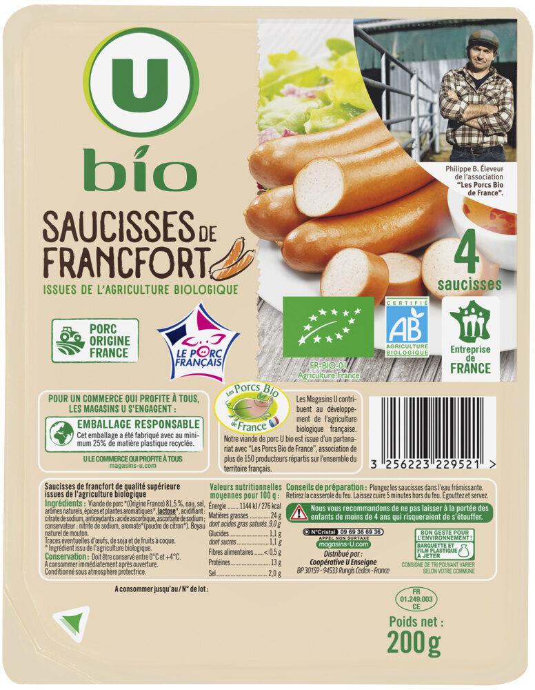 Saucisses de Francfort - Product - fr