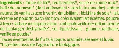 Cake nature au lait écrémé - Ingredienti - fr