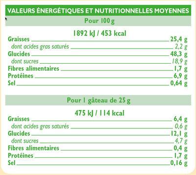 Cake nature au lait écrémé - Valori nutrizionali