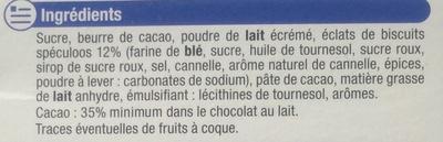 Chocolat Lait éclats de Spéculoos - Ingrediënten