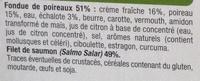 Saumon Atlantique et Fondue de Poireaux, Surgelé - Inhaltsstoffe