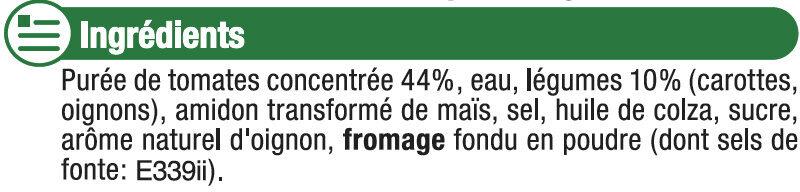 Sauce tomate petits légumes - Ingrédients - fr