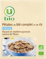 Pétales de blé complet et riz nature Bio - Produit - fr