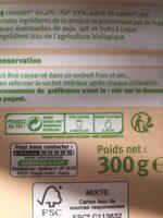 Pétales de blé complet et riz nature Bio - Instruction de recyclage et/ou informations d'emballage - fr