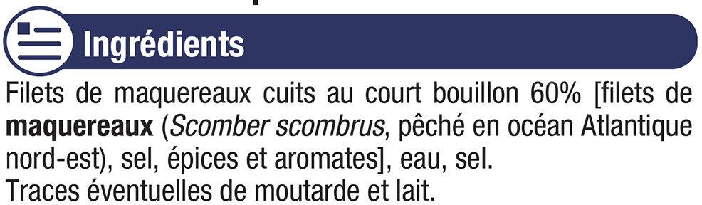 Filets de Maquereaux au naturel - Ingrediënten