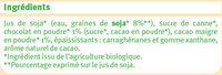 Boisson soja au chocolat - Ingredienti - fr