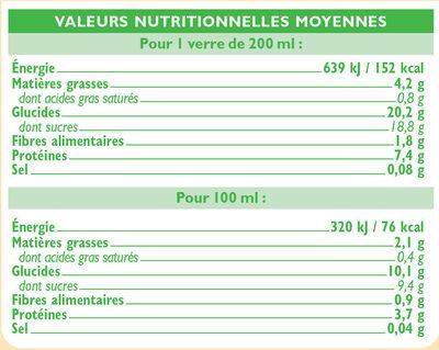 Boisson soja au chocolat - Nutrition facts - fr