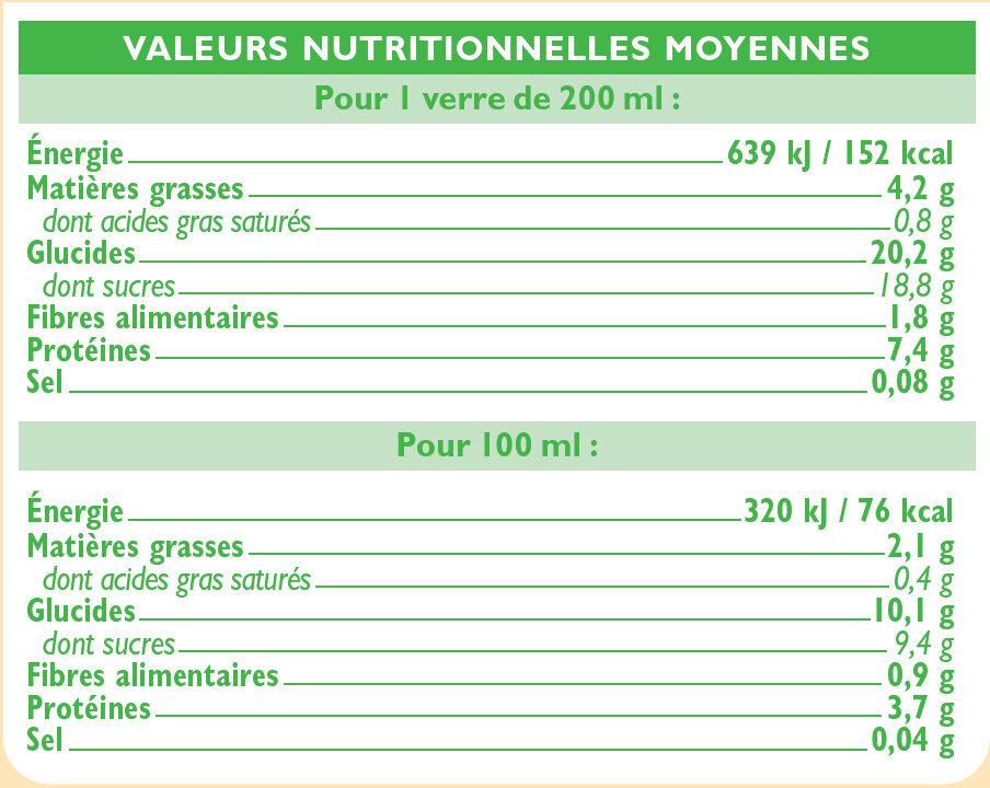 Boisson soja au chocolat - Valori nutrizionali - fr