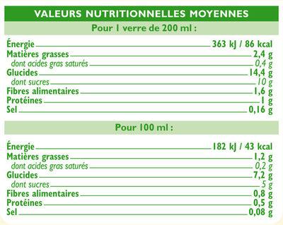 Boisson avoine Bio - Nährwertangaben - fr