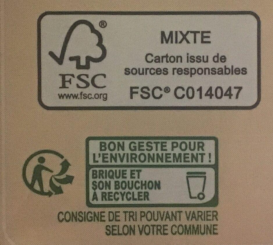 Boisson au riz - Istruzioni per il riciclaggio e/o informazioni sull'imballaggio - fr