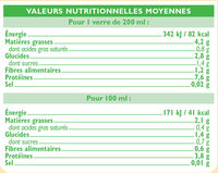 Boisson soja nature - Nutrition facts - fr