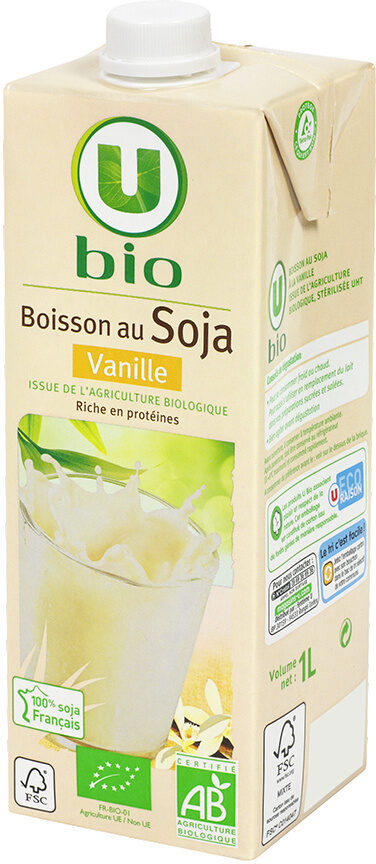 Boisson soja à la vanille - Product - fr