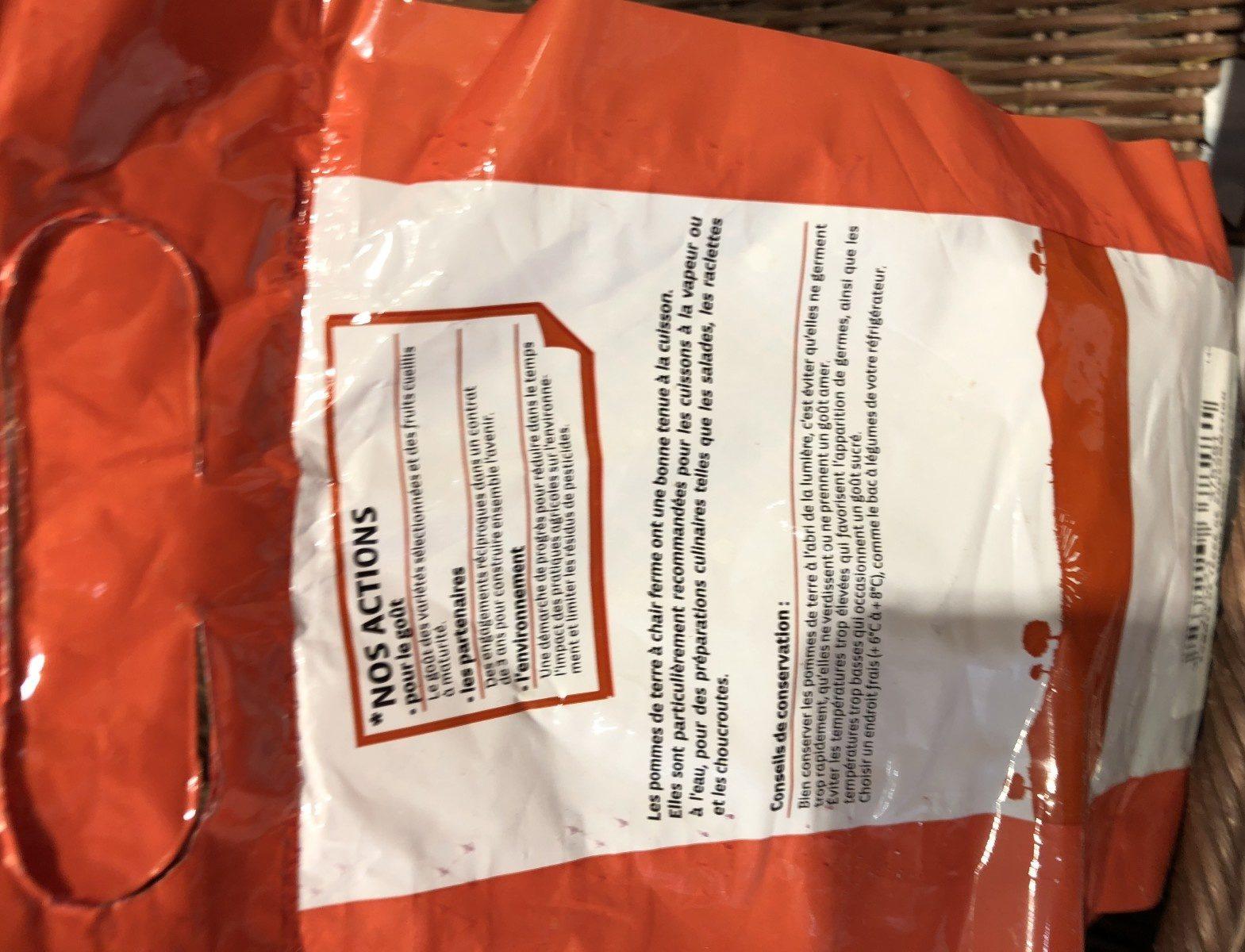 Pomme de terre Franceline, de consommation à chair ferme, cal.35/52mm cat.1 - Ingredients