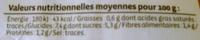 Oignon jaune, calibre 50/70 - Nutrition facts - fr