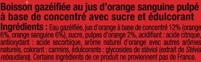 Orangeade pulpée sanguine - Ingredients - fr