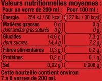 Orangeade pulpée sanguine - Nutrition facts - fr
