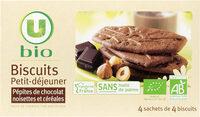 Biscuits petit déjeuner pépites chocolat et noisettes - Product - fr