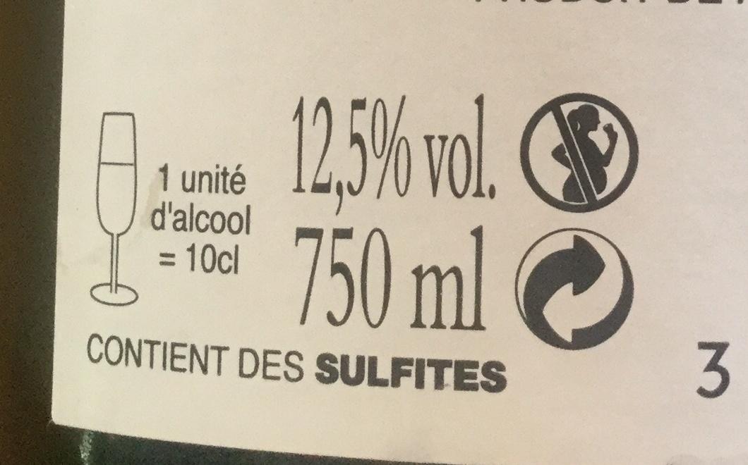 Champagne brut Louis DANREMONT - Ingredients - fr