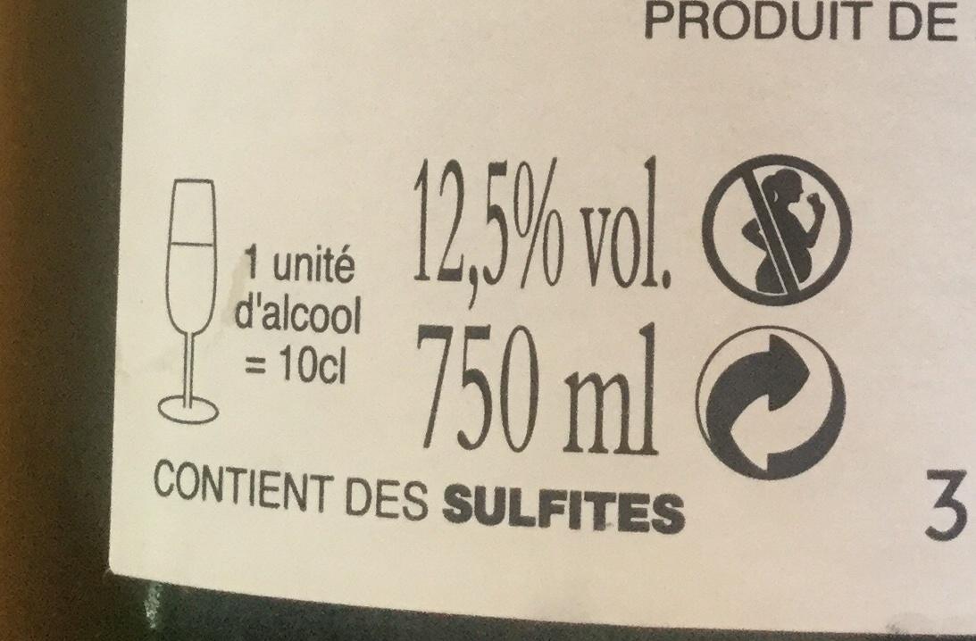 Champagne brut Louis DANREMONT - Nutrition facts - fr