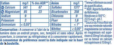 Eau minérale naturelle - Ingredients