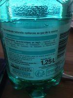 Eau pétillante - Nutrition facts - fr