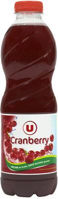 Boisson cranberry regular sans sucres ajoutés - Product