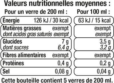 Boisson cranberry light - Informations nutritionnelles - fr
