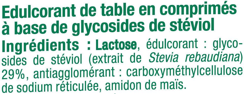 Edulcorant à base de stevia - Ingrédients