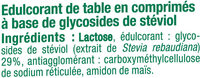 Edulcorant à base de stevia - Ingrédients - fr
