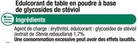 Extrait de stévia - Ingrédients