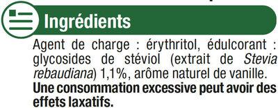 Extrait de stévia en poudre cristallisée - Ingrédients - fr