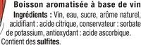 Boisson aromatisée à base de vin blanc/pêche 7,5° - Ingredients