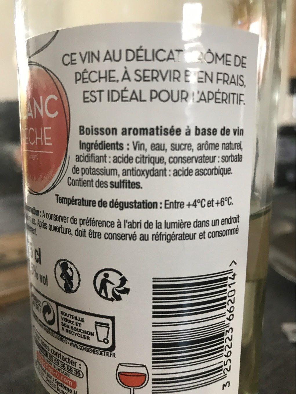 Boisson aromatisée à base de vin blanc/pêche 7,5° - Nutrition facts