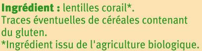 Lentilles corail - Ingrediënten - fr