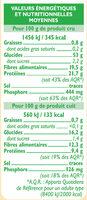 Pois cassés - Nutrition facts