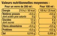 Soda saveur orange - Nutrition facts - fr
