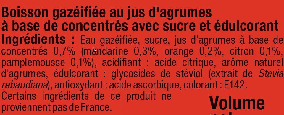 Soda saveur agrumes - Ingredients