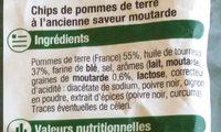Chips à l'ancienne saveur moutarde - Ingredients - fr