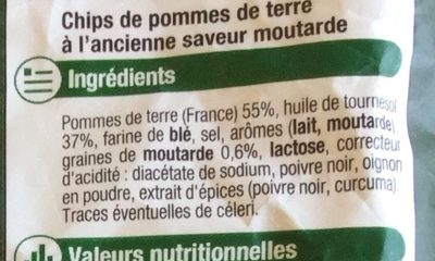 Chips à l'ancienne saveur moutarde - Ingredients