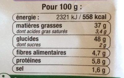 Chips à l'ancienne saveur moutarde - Nutrition facts - fr