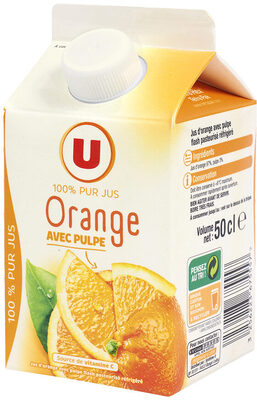 Pur jus d'orange avec pulpe réfrigéré - Product