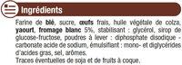 Barre pâtissière au fromage blanc - Ingredients