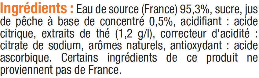 Boisson au thé glacé à la pêche - Ingrédients - fr