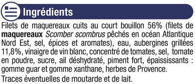 Filets de maquereaux aux aubergines grillées et au piment - Inhaltsstoffe - fr